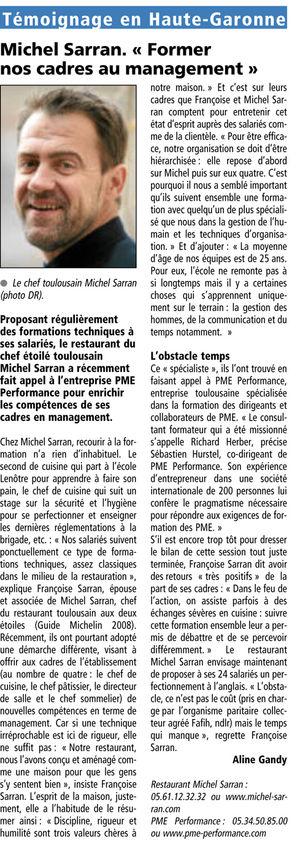 Article - Le journal des entreprises - JANVIER 2009